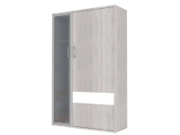 Скала шкаф витрина правый СТЛ.136.21 (960x1536x360) Дуб Сантана/Белый Глянец
