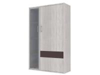 Скала шкаф витрина правый СТЛ.136.21 (960x1536x360) Дуб Сантана/Шоколад Глянец