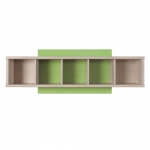 Нумлок Полка SFW 120 дуб светлый беллуно/зеленый 1200х205х425