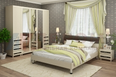 Спальня Мелисса 11 (Дуб Беленый-Комбинированный)