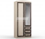 Персей СБ-1983 Шкаф с 2-х дверный с ящиками (900х2178х554)