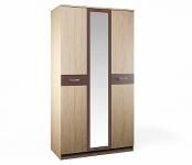 Клео СБ-2007 Шкаф 3-х дверный с зеркалом (1200х2226х579)