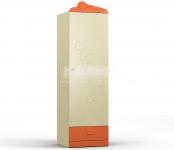 Денди оранжевый СБ-1423 Шкаф однодверный (584х1988х523)