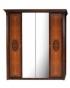 Спальный гарнитур Карина 2 Ярцево, Шкаф 4х створчатый для платья и белья 2 зеркала К2Ш1-4 1961х585х2280