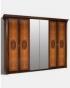Спальный гарнитур Карина 2 Ярцево, Шкаф 6-ти створчатый для платья и белья 2 зеркала К2Ш1-6 2830х585х2280