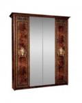 Спальный гарнитур Карина 3 Орех Ярцево, Шкаф 4х створчатый для платья и белья 2 зеркала К3Ш1-4 1910х590х2270