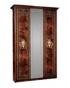 Спальный гарнитур Карина 3 Орех Ярцево, Шкаф 3х створчатый для платья и белья 1 зеркало К3Ш1-3 1490х590х2270