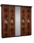 Спальный гарнитур Карина 3 Орех Ярцево, Шкаф 5-ти створчатый для платья и белья К3Ш1-5 2355х590х2270