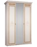 Спальный гарнитур Карина 3 Бежевый Ярцево, Шкаф 3х створчатый для платья и белья 1 зеркало К3Ш1-3 1490х590х2270