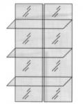 Модульная гостиная Карина 2, Комплект зеркал и стеклянных полок на широкий шкаф