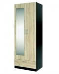 Флёр Шкаф двухдверный с зеркалом СТЛ.142.01 (800х527х2110)