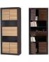 КАПРИ цвет венге магия/зебрано африканское Шкаф 2D (800х520х1970)