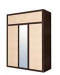 КАПРИ цвет венге магия/зебрано африканское Шкаф 3D с надставкой 1665х614х2440