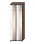 Некст-2 Шкаф с распашными зеркальными дверями НШР-1-2-5 (800х536х2140)
