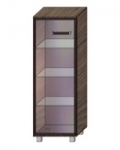 Некст-1 Пенал напольный со стеклянной дверью левый НП-1-1.2-3 (400х414х1260)