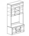 Гостиная Инна Шкаф 610 денвер темный (1200х468х2248) Размер ниши под ТВ 1170х865
