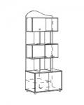 Браво Синий Модуль 7 Шкаф-стеллаж для книг 754х468х1934