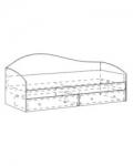 Модуль 6 Кровать одинарная 2032х840х800 спальное место 2000х800