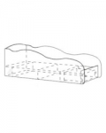Модуль 8 Кровать-машина с ящиком 1920х836х644 спальное место 1900х800