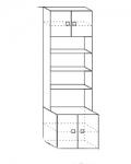 Акварель Модуль 3 Шкаф с нишей 602х542х2000
