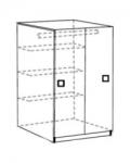 Акварель Модуль 7 Шкаф для одежды 377х542х2000