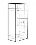 Акварель Модуль 12 Шкаф для платья и белья 752х542х2000