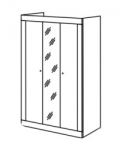 Саванна Шкаф для одежды 3-х дверный с зеркалом (1134х1956х542)