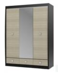 Ксено ясень глянец СТЛ.078.16 Шкаф с зеркалом 3-х дверный с 3 ящиками 1516х593х1994
