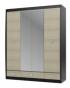 Ксено ясень глянец СТЛ.078.19 Шкаф с зеркалом 4-х дверный с 3 ящиками 1800х590х2195