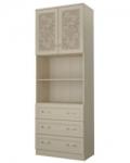 Детская Дженни СТЛ.127.20 Шкаф 2-х дверный с 3 ящиками (792х446х2226)