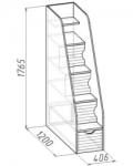 Калейдоскоп Тумба лестница 406х1200х1765