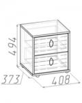 Калейдоскоп Тумба 1 408х373х494