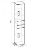 Гипер Шкаф МЦН 3 (400х2113х389)