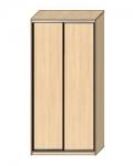 Шкаф-купе Оптима-18 Дверь ДСП-ДСП ОШ-4-9-11 1826х480х2290