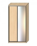 Шкаф-купе Оптима-18 Дверь ДСП-зеркало ОШ-4-9-15 1826х480х2290