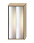 Шкаф-купе Оптима-18 Дверь зеркало-зеркало ОШ-6-9-55 1826х630х2290