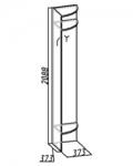 Комфорт 3 Вешалка угловая 10 (373х2088х373)