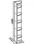 Комфорт 1 Полка угловая 9 (373х2088х373)