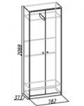 Комфорт 1 Шкаф для одежды 6 (782х2088х373)