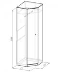 Комфорт 3 Шкаф угловой 1 (651х2088х651)