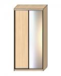 Шкаф-купе Оптима-16 Дверь ДСП-зеркало ОШ-6-8-15 1626х630х2290