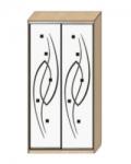 Шкаф-купе Оптима-14 Дверь зеркало с пескоструйной обработкой рисунок 13-13 ОШ-4-7-66 1426х480х2290