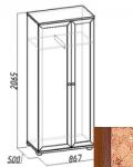 Марракеш Шкаф для одежды и белья (867х2059х500)