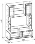 Шерлок 1 Шкаф МЦН (1520х2107х590)