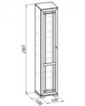 Шерлок 8 Шкаф для белья (400х2107х400)