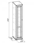 Шерлок 9 Шкаф для белья (400х2107х590)