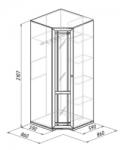 Шерлок 10 Шкаф угловой МДФ (860х2107х860)