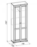 Шерлок 11 Шкаф для одежды (798х2107х400)