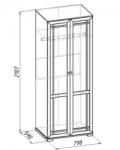 Шерлок 12 Шкаф для одежды (798х2107х590)