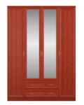 Юлианна СБ-074 Шкаф 4 дверный с зеркалами